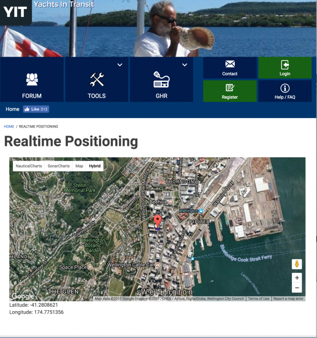 Satellite Realtime Position Tracking YIT - Real time satellite map images