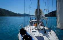 Sailing along Tory Channel