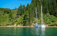 Rafted up in Spencer Bay