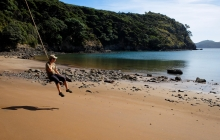 A quick swing at Bradshaw cove, Kiakoura island