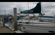Distracted - the Yacht we are crewing on.