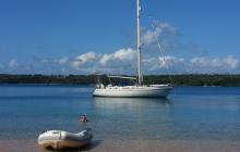 Hunga island lagoon
