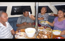 A Fijian feast aboard with Tau, Maggie, Mirry and Lice