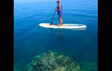 Ilot Mato outer reef. Water unbelievably clear...