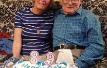 Grand parents 57th wedding anniversary and grandpa's 89th birthday