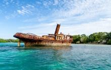 Palikulo Bay - wrecked tug