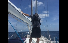 Paul wishing it was *him* up at the top of the mast!