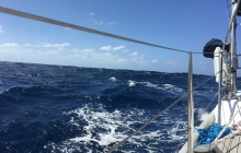 Boisterous conditions - confused 3-4m windwaves