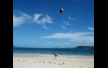 Wide blue skies and wide sandy beaches...... great for kiting.