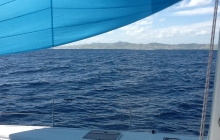 Fiji on the horizon and we finish the passage under spinnaker.
