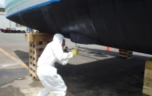 Antifouling is never a very pleasant job!
