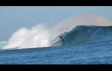 Kelly Slater in a barrel. Yeehah!