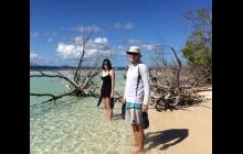 Exploring coral island