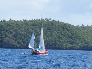 Tonga fun race towing dingy too